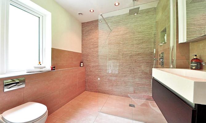 Badkamer met vloerverwarming